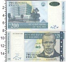 Изображение Банкноты Африка Малави 200 квач 2001  UNC