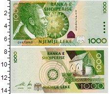 Изображение Банкноты Албания 1000 лек 2001  UNC