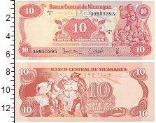 Изображение Банкноты Северная Америка Никарагуа 10 кордоба 0  UNC