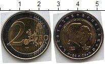 Изображение Мелочь Люксембург 2 евро 2005 Биметалл UNC-