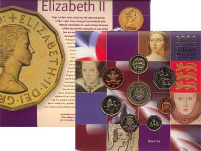 Изображение Подарочные монеты Великобритания Королева Елизавета 2002  UNC