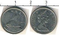 Изображение Мелочь Канада 10 центов 1974 Медно-никель VF Парусник
