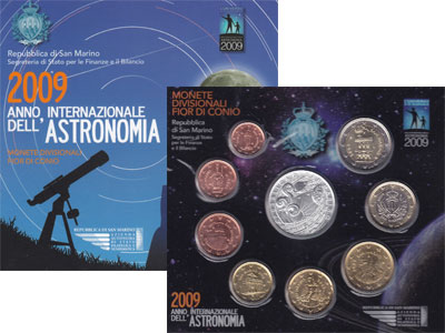 Изображение Подарочные монеты Европа Сан-Марино Евронабор 2009 2009  UNC