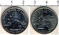 Изображение Мелочь Северная Америка США 1/4 доллара 2001 Медно-никель UNC-