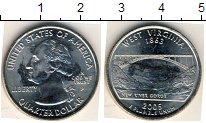Изображение Мелочь США 1/4 доллара 2005 Медно-никель XF