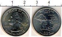 Изображение Мелочь США 1/4 доллара 2004 Медно-никель UNC P. Мичиган 1837