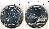 Изображение Мелочь США 1/4 доллара 2005 Медно-никель UNC Миннесота 1858. P
