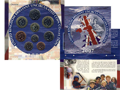 Изображение Подарочные монеты Великобритания Годовой набор 2007 2007  AUNC