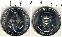 Изображение Мелочь Тонга 20 сенити 1981 Медно-никель UNC