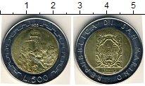 Изображение Мелочь Сан-Марино 500 лир 1988 Биметалл UNC- Крепость