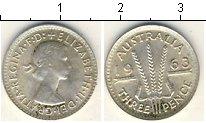 Изображение Мелочь Австралия 3 пенса 0 Серебро XF+ Елизавета II