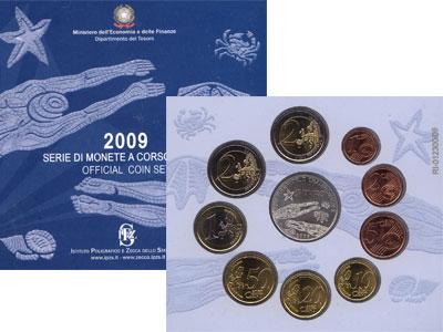 Изображение Подарочные монеты Италия Набор евромонет 2009 2009  UNC