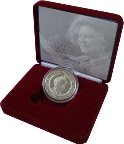 Изображение Подарочные монеты Европа Великобритания 5 фунтов 2002 Серебро Proof