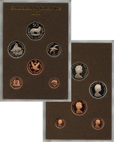 Изображение Подарочные монеты Великобритания Фолклендские острова Выпуск 1980 года 1980  Proof