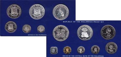Изображение Подарочные монеты Азия Филиппины Набор proof-монет 1976 года 1976  Proof