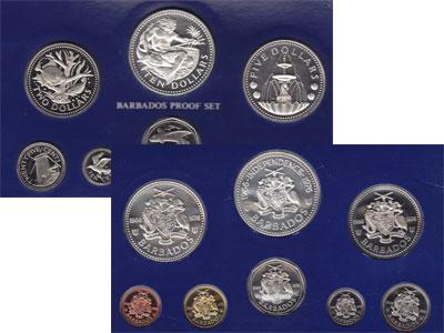 Изображение Подарочные монеты Северная Америка Барбадос Выпуск 1973 года 1973  Proof