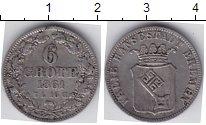 Изображение Монеты Германия Бремен 6 гротен 1861 Серебро