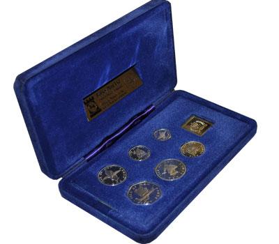 Изображение Подарочные монеты Великобритания Остров Мэн 25-летие коронации 1977 Серебро Proof