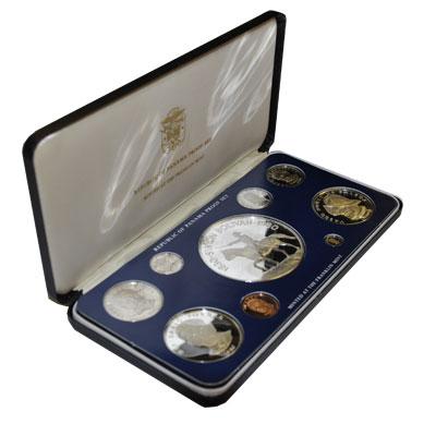 Изображение Подарочные монеты Северная Америка Панама Симон Боливар 1980 Серебро Proof