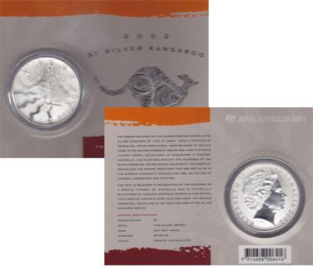Изображение Подарочные монеты Австралия 1 доллар 2002 Серебро UNC