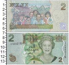 Изображение Банкноты Австралия и Океания Фиджи 2 доллара 0  UNC