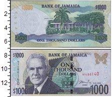 Изображение Банкноты Северная Америка Ямайка 1000 долларов 2008  UNC