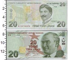 Изображение Банкноты Азия Турция 20 лир 2009  UNC