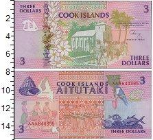 Изображение Банкноты Острова Кука 3 доллара 0  UNC