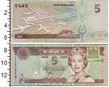 Изображение Банкноты Австралия и Океания Фиджи 5 долларов 0  UNC