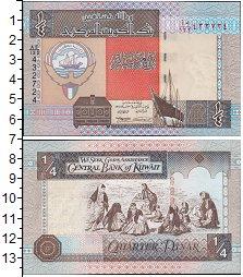 Изображение Банкноты Азия Кувейт 1/4 динара 1978  UNC