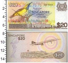 Изображение Банкноты Сингапур 20 долларов 0  UNC