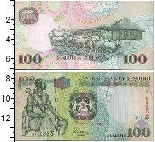 Изображение Банкноты Африка Лесото 100 малоти 2009  UNC