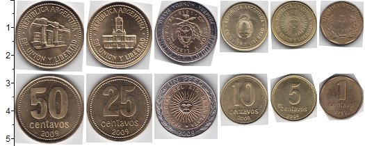 Изображение Наборы монет Южная Америка Аргентина Аргентина 1992-2013 1992  UNC