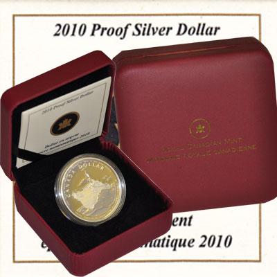 Изображение Подарочные монеты Северная Америка Канада 1 доллар 2010 Серебро Proof