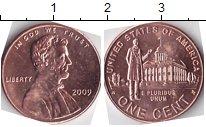 Изображение Мелочь Северная Америка США 1 цент 2009 Медь UNC