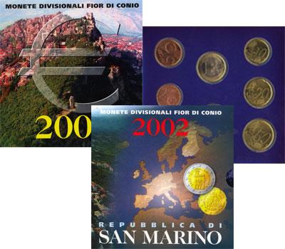 Изображение Подарочные монеты Европа Сан-Марино Регулярный выпуск 2002 2002  UNC