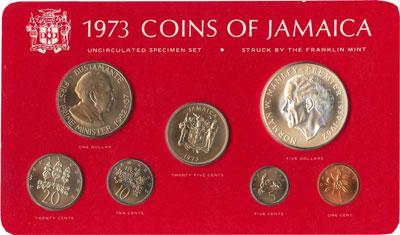 Изображение Подарочные монеты Северная Америка Ямайка Выпуск 1973 года 1973  UNC