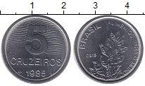 Изображение Мелочь Южная Америка Бразилия 5 крузейро 1985 Медно-никель