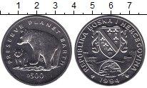 Изображение Мелочь Европа Босния и Герцеговина 500 динар 1994 Медно-никель UNC-