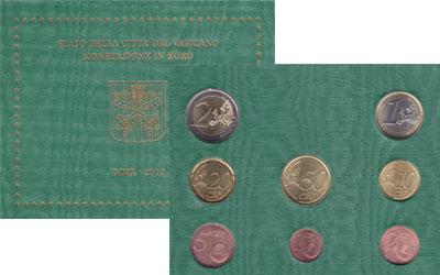 Изображение Подарочные монеты Ватикан Евронабор 2010 года выпуска 2010  UNC