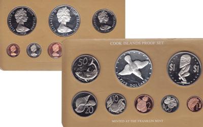 Изображение Подарочные монеты Острова Кука Выпуск 1976 года 1976  Proof