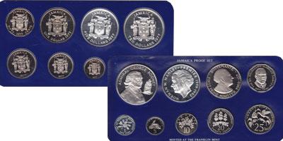 Изображение Подарочные монеты Северная Америка Ямайка Выпуск 1977 года 1977  Proof-