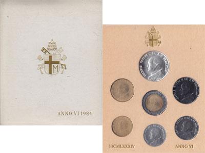 Изображение Подарочные монеты Ватикан Anno VI 1984 1984  UNC