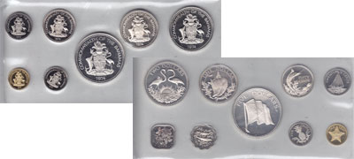 Изображение Подарочные монеты Северная Америка Багамские острова Выпуск 1974 года 1974  Proof