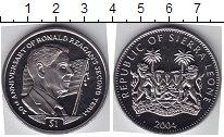 Изображение Мелочь Африка Сьерра-Леоне 1 доллар 2004 Медно-никель UNC