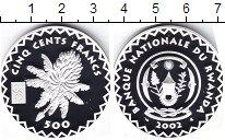 Изображение Монеты Руанда 500 франков 2002 Серебро Proof