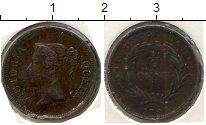 Изображение Монеты Стрейтс-Сеттльмент 1/4 цента 1845 Медь