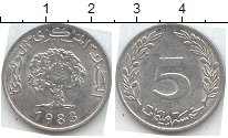 Изображение Мелочь Тунис 5 миллим 1983 Алюминий XF-