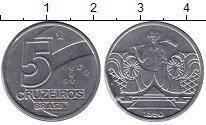 Изображение Мелочь Южная Америка Бразилия 5 крузейро 1990 Медно-никель