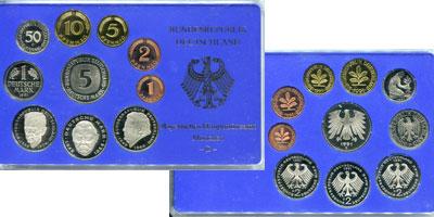 Изображение Подарочные монеты Германия ФРГ Монеты 1990 (чеканка Мюнхена) 1990  UNC